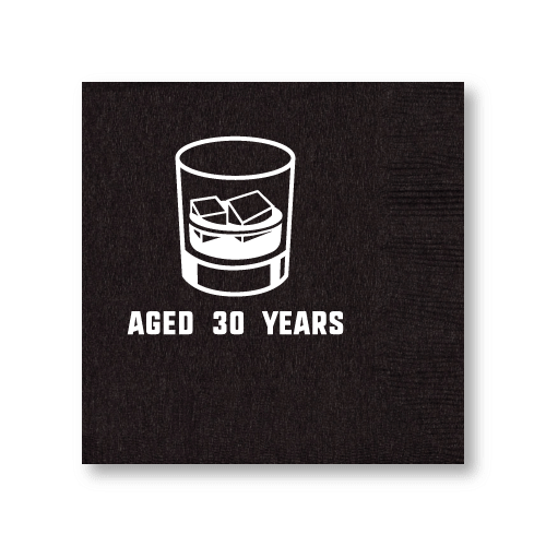 Aged Whiskey Birthday Cocktail Napkins