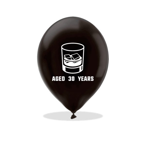 Aged Whiskey Birthday Latex Balloons