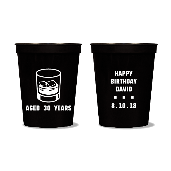 Aged Whiskey Birthday Party Cups
