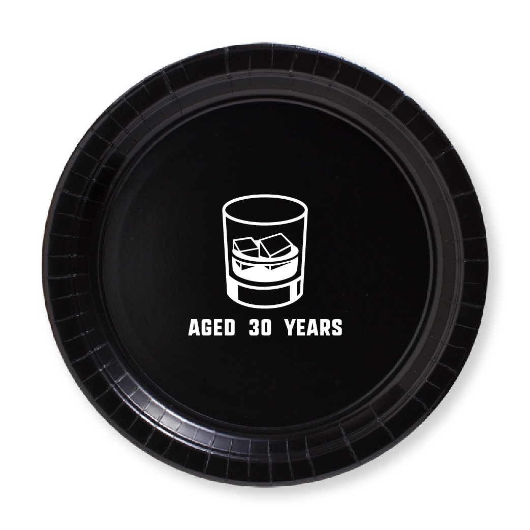 Aged Whiskey Birthday Paper Plates