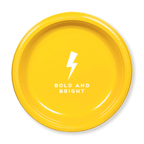 Bold and Bright Plastic Plates