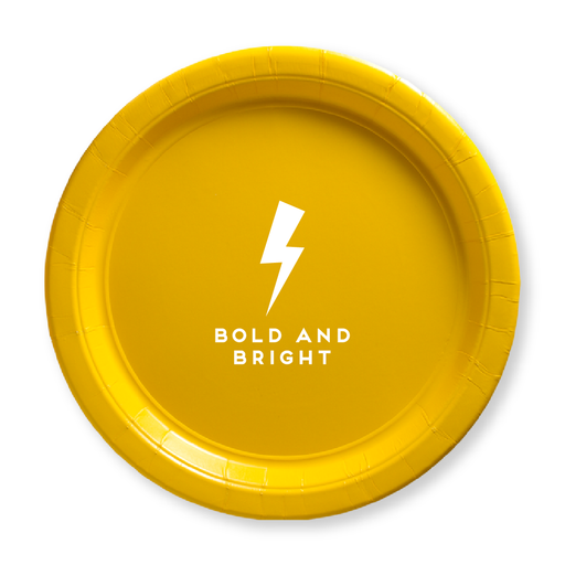 Bold and Bright Paper Plates