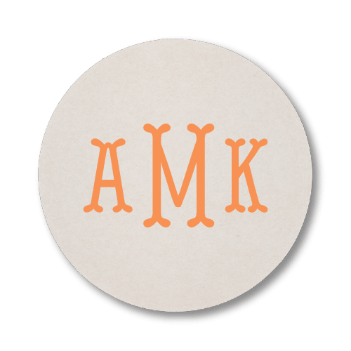 Fishtail Monogram Coasters