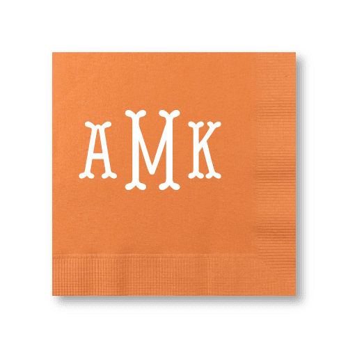 Fishtail Monogram Cocktail Napkins