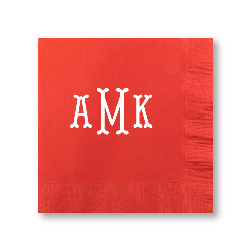 Fishtail Monogram Dinner Napkins