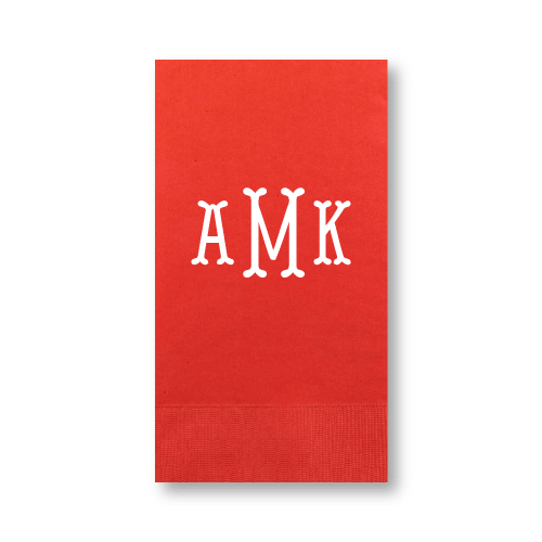 Fishtail Monogram Guest Towels