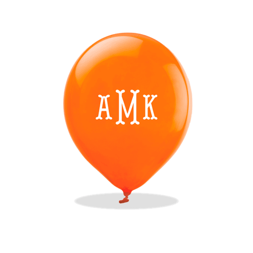 Fishtail Monogram Latex Balloons