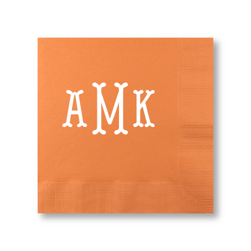 Fishtail Monogram Luncheon Napkins