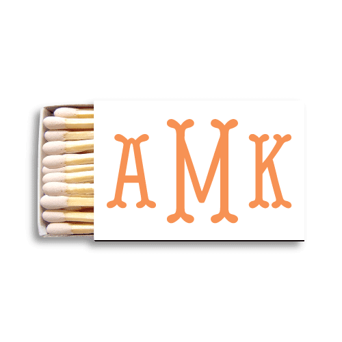 Fishtail Monogram Matchboxes