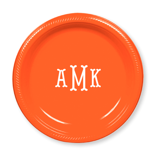 Fishtail Monogram Plastic Plates