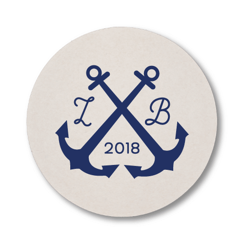 Wedding Anchors Coasters