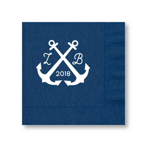 Wedding Anchors Luncheon Napkins
