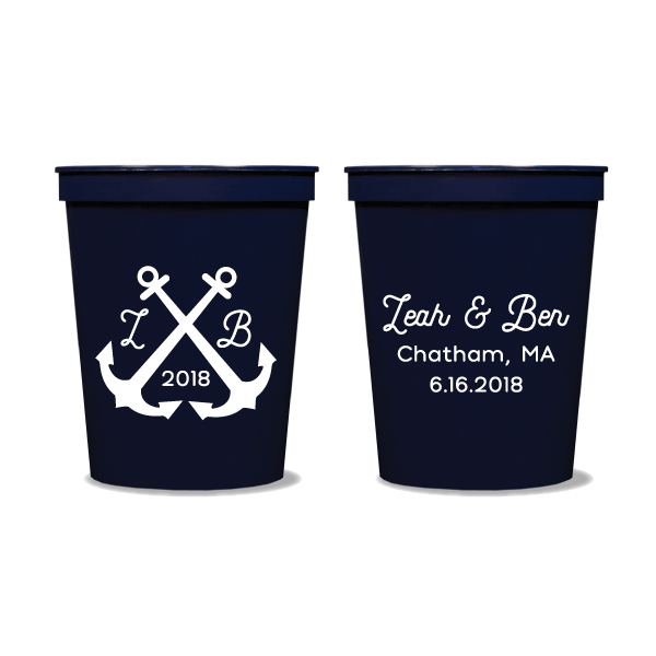 Wedding Anchors Party Cups
