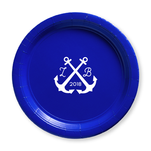Wedding Anchors Paper Plates