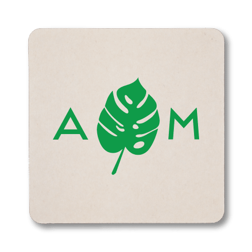 Monogrammed Monstera Coasters