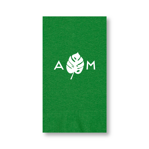 Monogrammed Monstera Guest Towels
