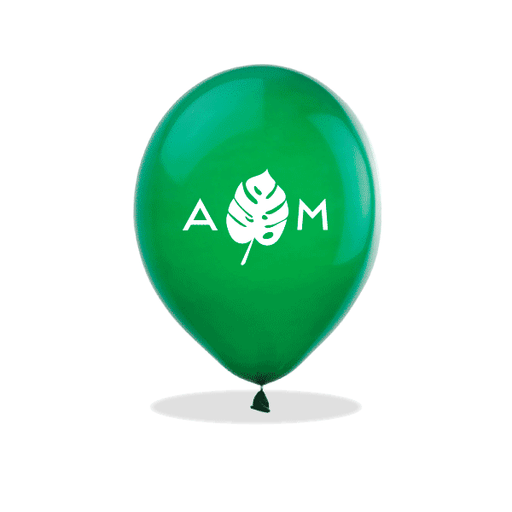 Monogrammed Monstera Latex Balloons