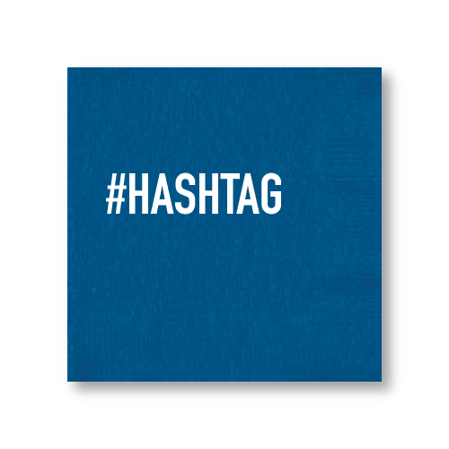 #HASHTAG Cocktail Napkins