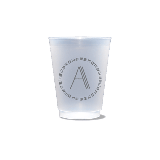 Triple Stripe Monogram Frosted Cups