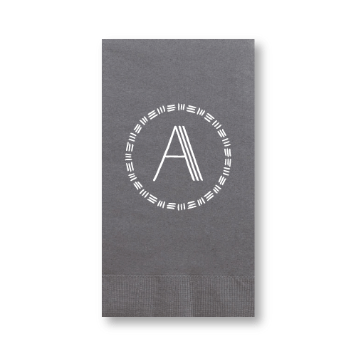 Triple Stripe Monogram Guest Towels