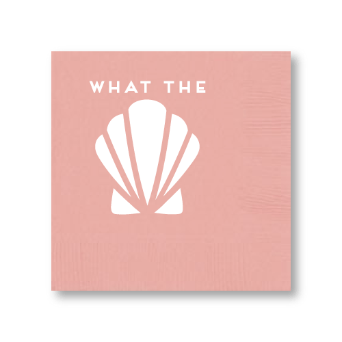 What the Shell Cocktail Napkins