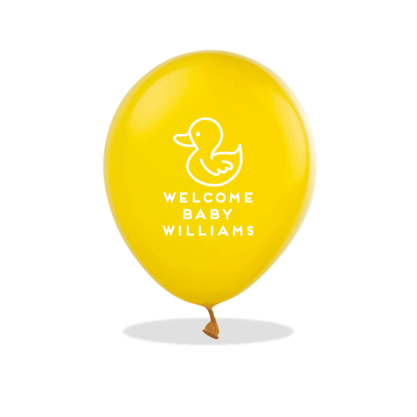 Rubber Ducky Latex Balloons