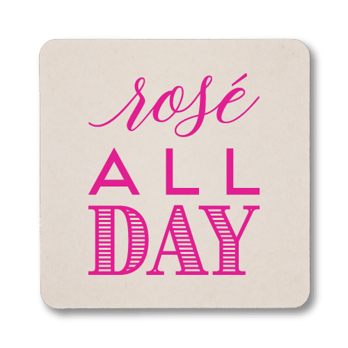 Rose All Day Coasters