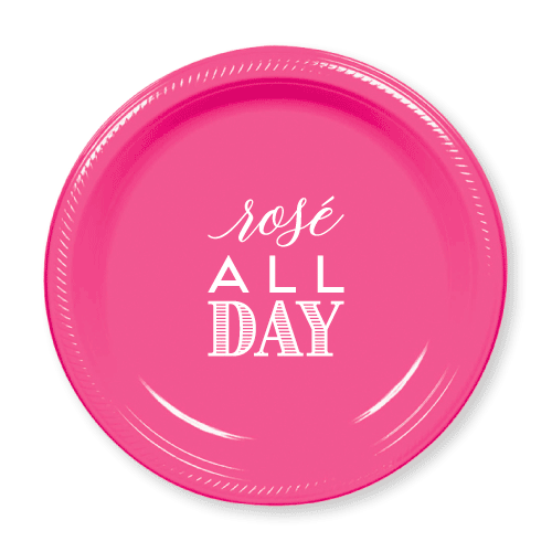 Rose All Day Plastic Plates