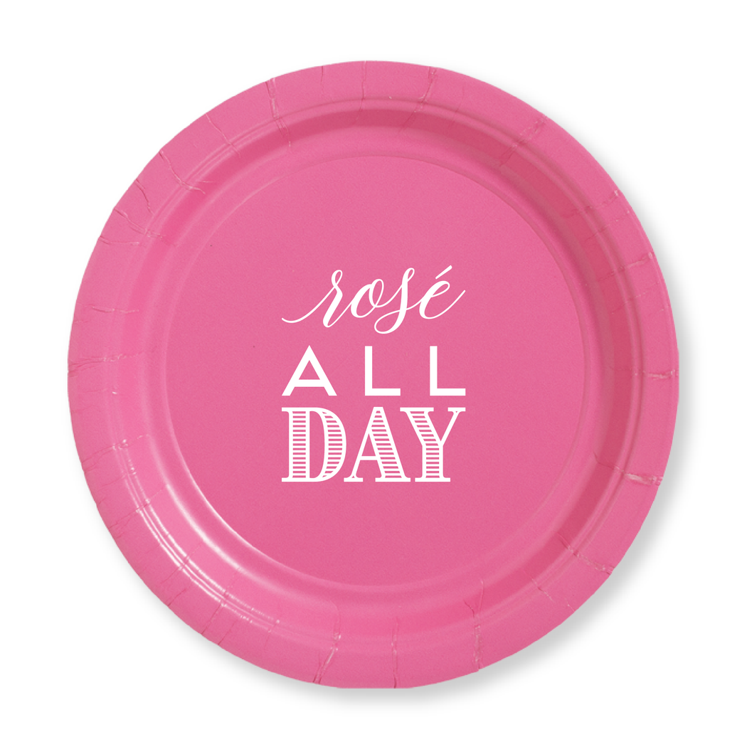 Rose All Day Paper Plates