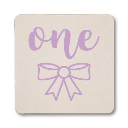 First Birthday Bow Coasters