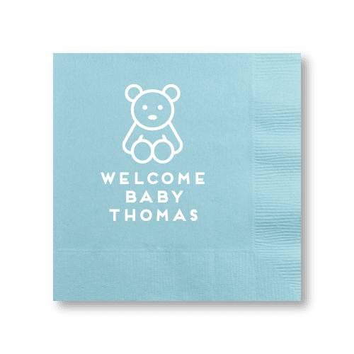Teddy Bear Cocktail Napkins