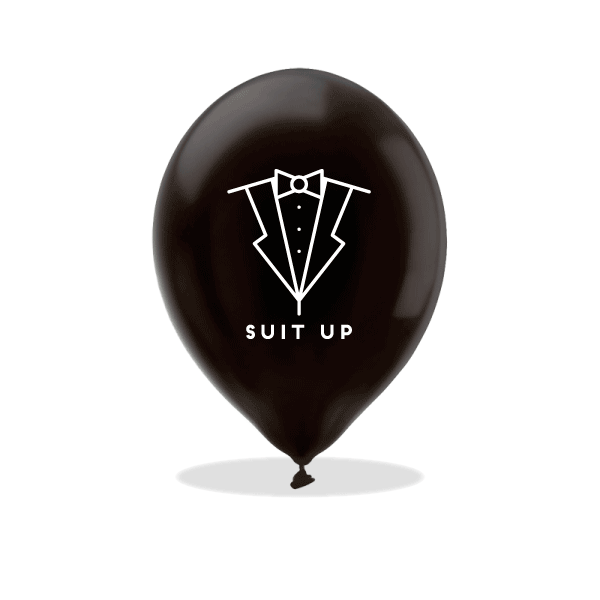 Suit Up Latex Balloons