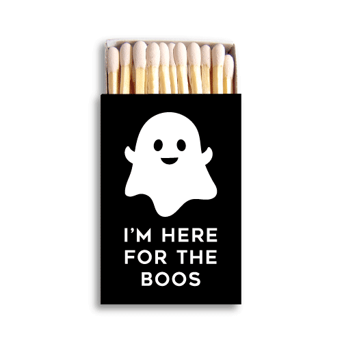 I'm Here for the Boos Matchboxes