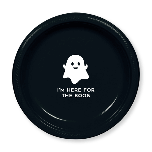 I'm Here for the Boos Plastic Plates