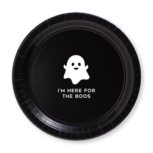 I'm Here for the Boos Paper Plates