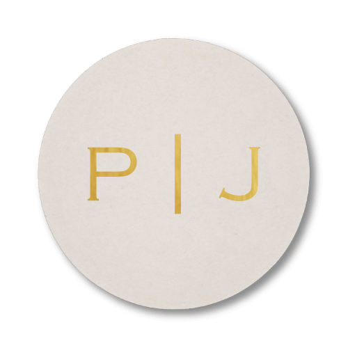 Vertical Block Monogram Coasters