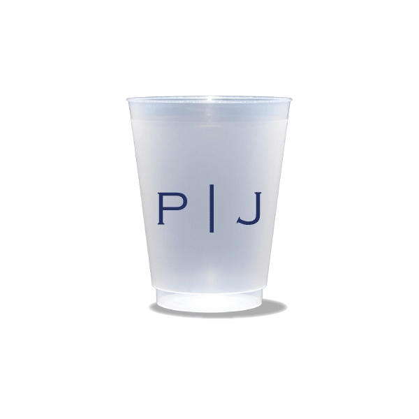 Vertical Block Monogram Frosted Cups