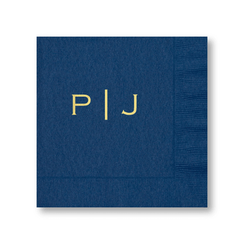 Vertical Block Monogram Luncheon Napkins