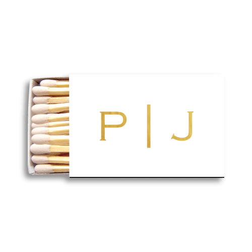 Vertical Block Monogram Matchboxes
