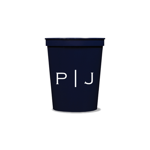 Vertical Block Monogram Party Cups