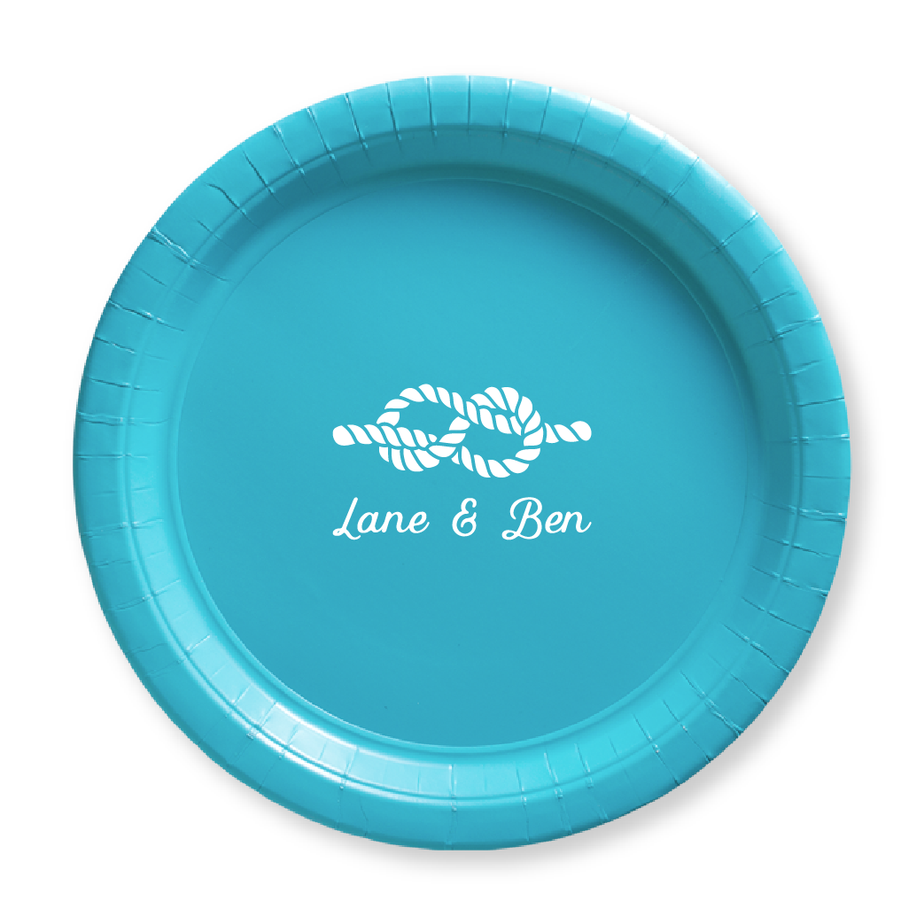 Nautical Name Paper Plates