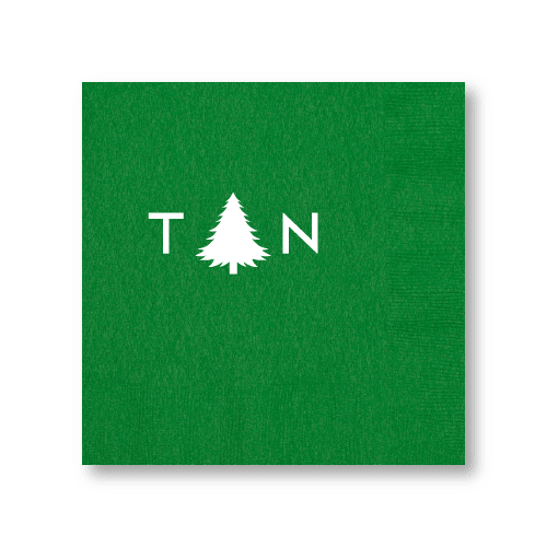 Monogrammed Pine Tree Dinner Napkins