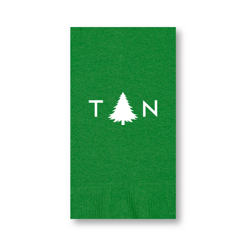 Monogrammed Pine Tree Guest Towels