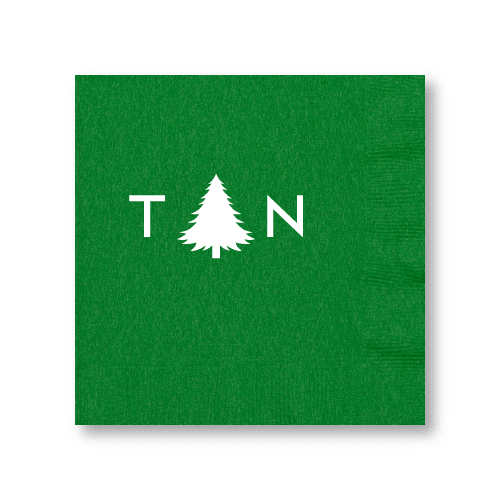 Monogrammed Pine Tree Luncheon Napkins