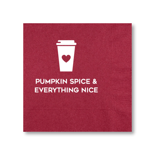 Pumpkin Spice Cocktail Napkins
