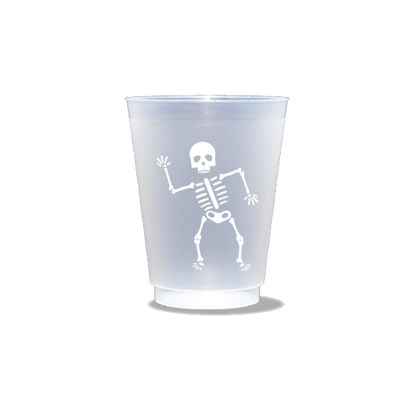 Happy Skeleton Frosted Cups