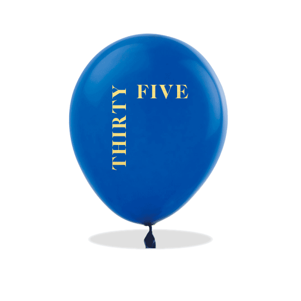 Written Number Latex Balloons