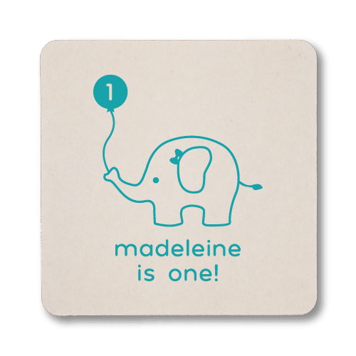 Birthday Elephant Coasters