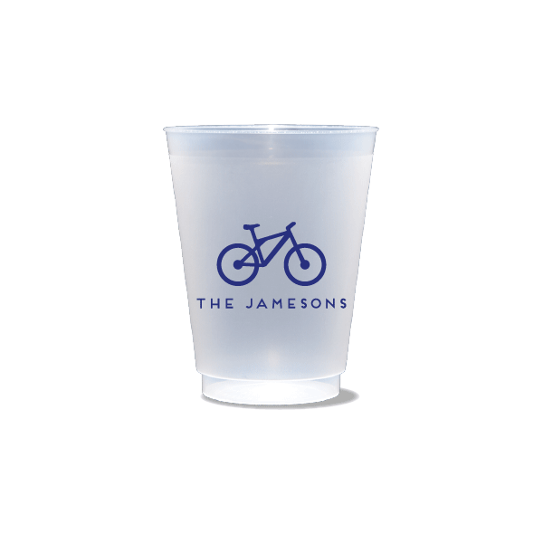 Personalized Bicycle Frosted Cups