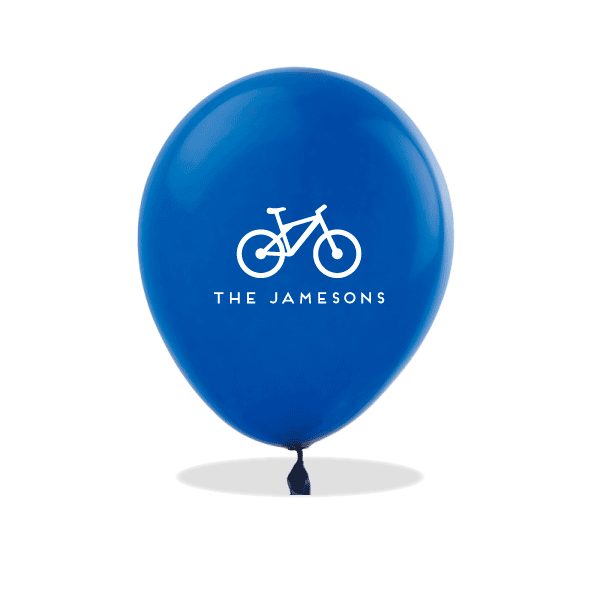 Personalized Bicycle Latex Balloons